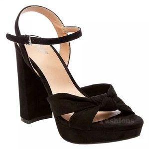NWOT Mossimo Velvet Black Platform Heels